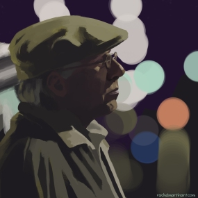 """The Cabbie"". Digital painting."