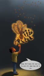 """Bee Spirit"". Digital painting."